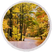 Autumn Colors - Colorful Fall Leaves Wisconsin - II Round Beach Towel