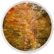 Autumn Colors - Colorful Fall Leaves Wisconsin IIi Round Beach Towel