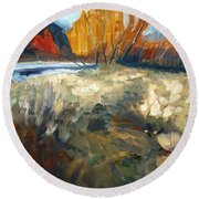 Autumn Colours Round Beach Towel