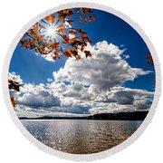Autumn  Confidential  Round Beach Towel by Bob Orsillo
