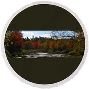 Autumn Dreaming Adwc Round Beach Towel