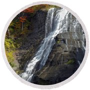 Autumn Falls Round Beach Towel