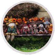 Autumn - Family Reunion Round Beach Towel by Mike Savad
