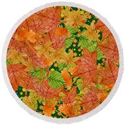 Autumn Floor Round Beach Towel