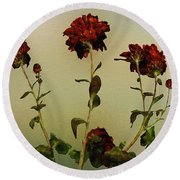 Autumn Fresco Round Beach Towel