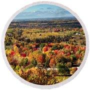 Autumn Glory Landscape Round Beach Towel