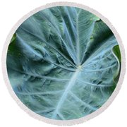 Autumn Green Round Beach Towel