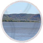 Autumn Haze Round Beach Towel