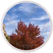 Autumn In Glenwood Canyon - Colorado Round Beach Towel