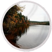 Autumn In Maine Round Beach Towel