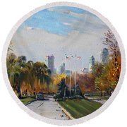 Autumn In Niagara Falls State Park Round Beach Towel