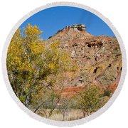 Autumn In Palo Duro Canyon 110213.119 Round Beach Towel