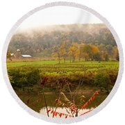 Autumn In The Butternut Valley-six Round Beach Towel