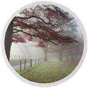 Autumn In The Cove IIi Round Beach Towel