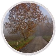 Autumn In The Cove V Round Beach Towel