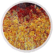 Autumn In The Pioneer Valley Round Beach Towel