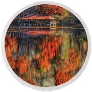 Autumn In The Smokey's Round Beach Towel