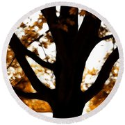 Autumn Is Here  Round Beach Towel