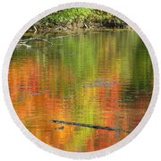 Autumn Jewel Round Beach Towel