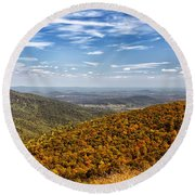 Autumn Layers Round Beach Towel