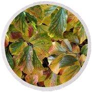 Autumn Leaves 79 Round Beach Towel