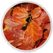 Autumn Leaves 80 Round Beach Towel