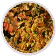 Autumn Leaves 83 Round Beach Towel