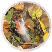 Autumn Leavings Round Beach Towel