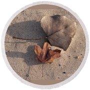 Autumn Leftovers  Round Beach Towel