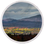 Painting With Autumn Light Round Beach Towel