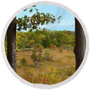 Autumn Look Out Round Beach Towel