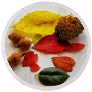 Autumn Medley Round Beach Towel by Jeff Kolker