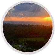 Autumn Morning Over Wailua Round Beach Towel
