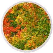 Autumn Mosaic Nj Round Beach Towel