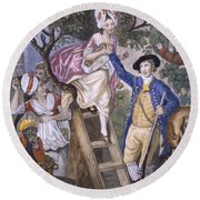 Autumn, Negro Servant, C.1780 Round Beach Towel