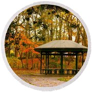 Autumn Paradise Round Beach Towel