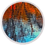 Autumn Patterns Round Beach Towel