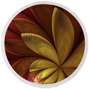 Autumn Plant Round Beach Towel