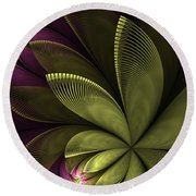 Autumn Plant II Round Beach Towel