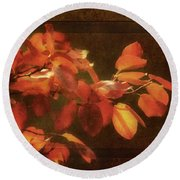 Autumn Promise Round Beach Towel