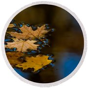 Autumn Puddle Round Beach Towel