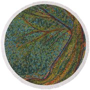 Autumn Rain Tree Round Beach Towel