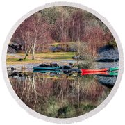 Autumn Reflections Round Beach Towel by Adrian Evans