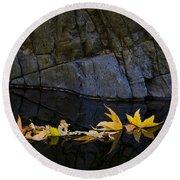 Autumn Reflections  Round Beach Towel