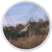 Autumn Remains In January Round Beach Towel