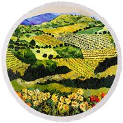 Autumn Remembered Round Beach Towel