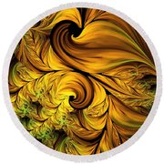 Autumn Returns Abstract Round Beach Towel