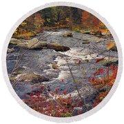 Autumn River Round Beach Towel by Joann Vitali