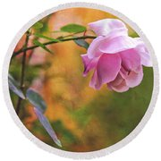 Autumn Rose Round Beach Towel
