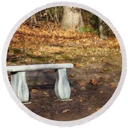 Autumn Seat Round Beach Towel